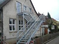 Fluchttreppe an einer Kita in Esslingen