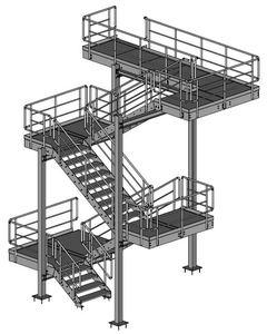 07-2016 Treppenturm nach Industrienorm