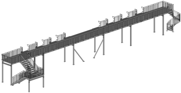 Loggia-Balkon mit 2 Zugangstreppen, Belag Balkotec