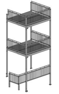 02-2019 Balkonanlage aus Stahl im Duplexsystem beschichtet