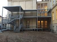 Fluchttreppe und Rampe Rathaus Eisenhüttenstadt
