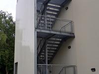 Treppenturm - gerade Fluchttreppe