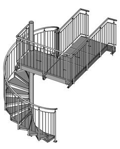 11-2016 Spindeltreppe mit Überstieg-Podesttreppe
